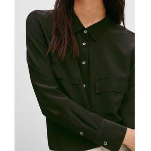 Aritzia Peyton 100% silk blouse